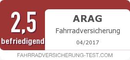Testsiegel: ARAG Fahrradversicherung