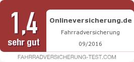 Testsiegel: Onlineversicherung.de Fahrradversicherung
