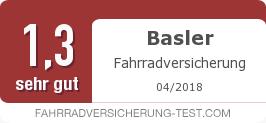 Testsiegel: Basler Fahrradversicherung